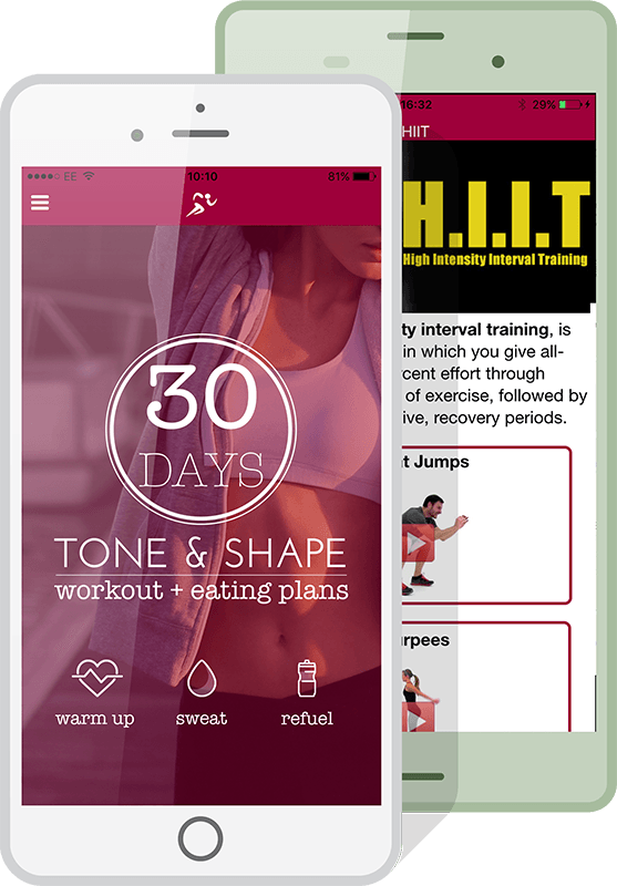 personal trainer app on ios and android phones