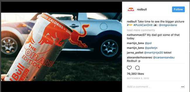 Red Bull Valentines Day Marketing Campaign