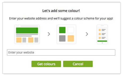 app builder colour schemes