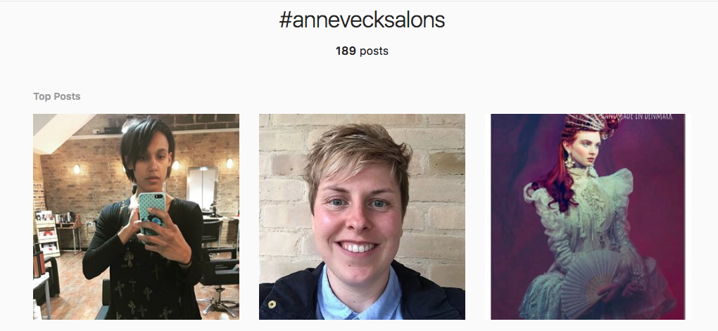 anne veck instagram hashtag