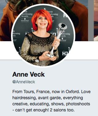 Anne Veck Twitter Bio 2