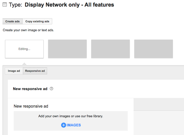 display network create ads