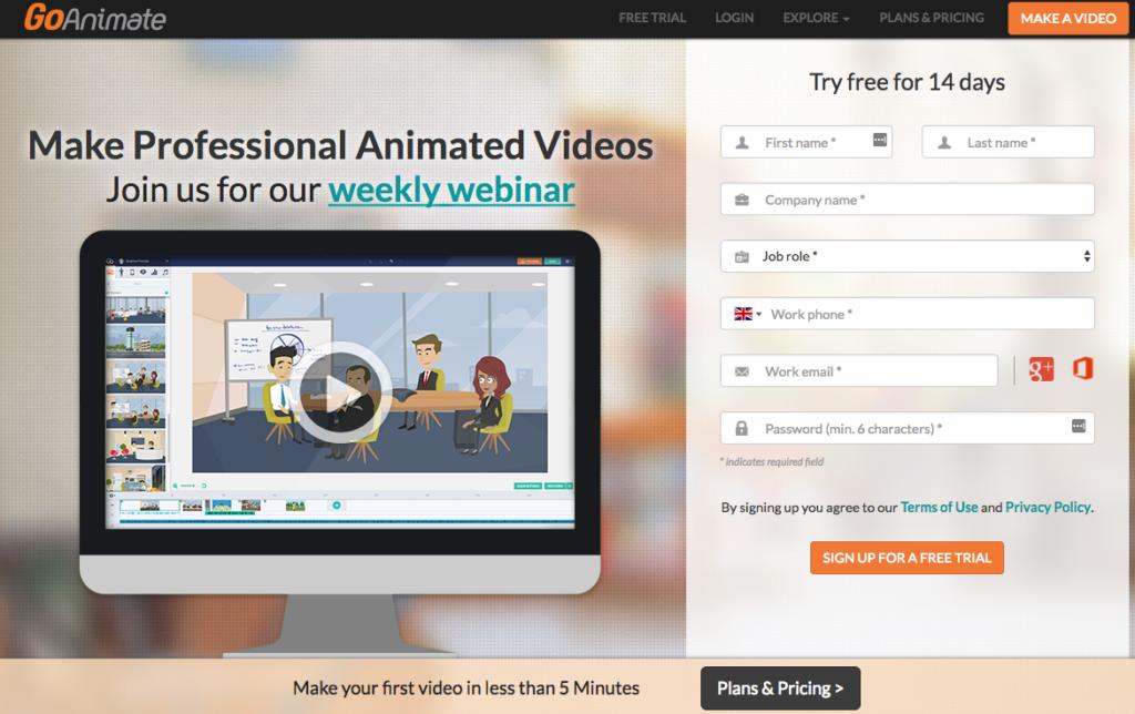 Goanimate Video Marketing Tools