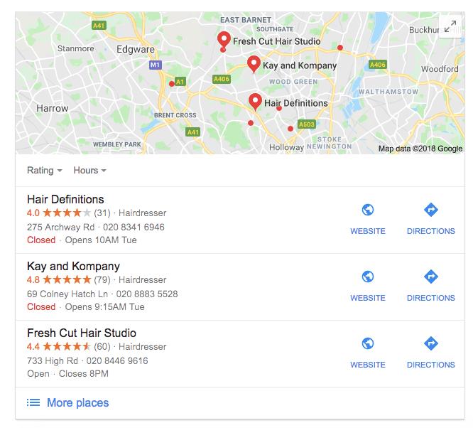 Hair Salon Marketing Google Business