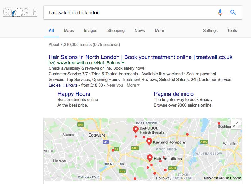 hair salon marketing local seo pack
