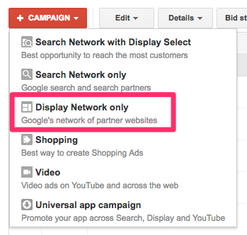 setting up display network campaign
