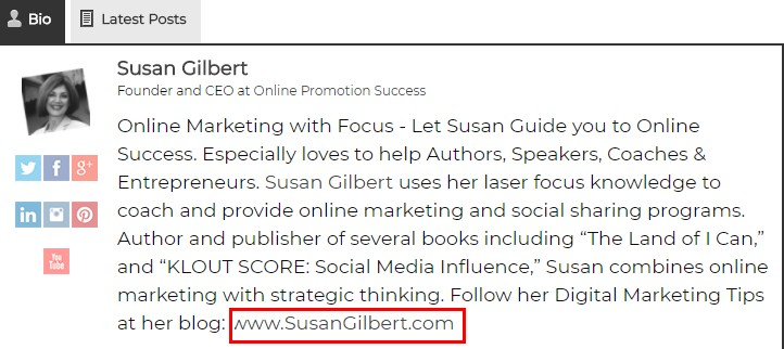 susan gilbert guest post link