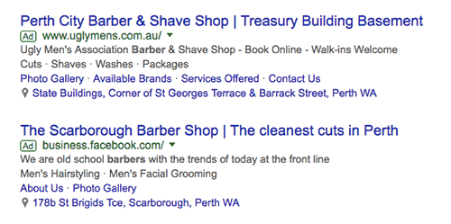 barbershops adwords