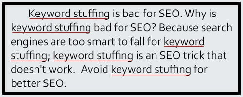 keyword stuffing example