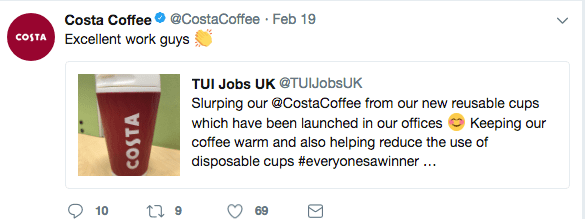 costa coffee reusable cup tweet 2