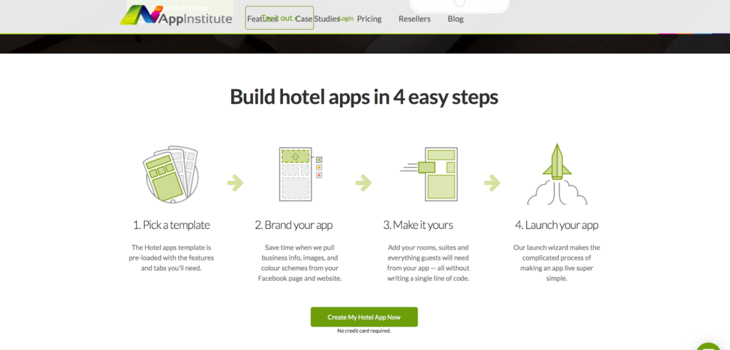 Hotel App Maker Page