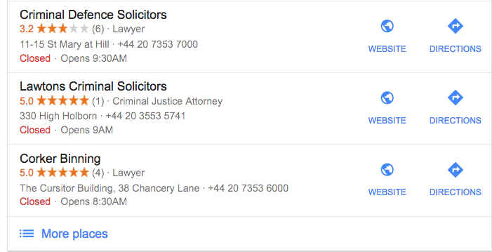 google my business listings for lawyers