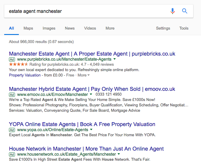 real estate marketing ppc ads