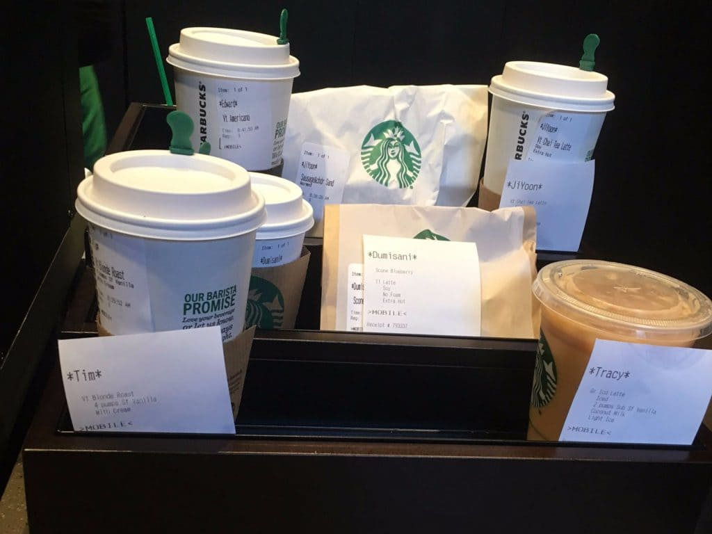starbucks mobile order tray