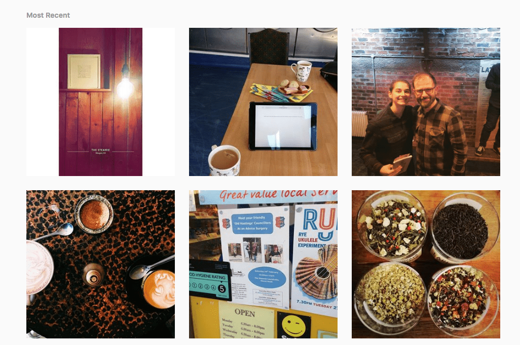 Coffee Shop Instagram Hashtag Feed