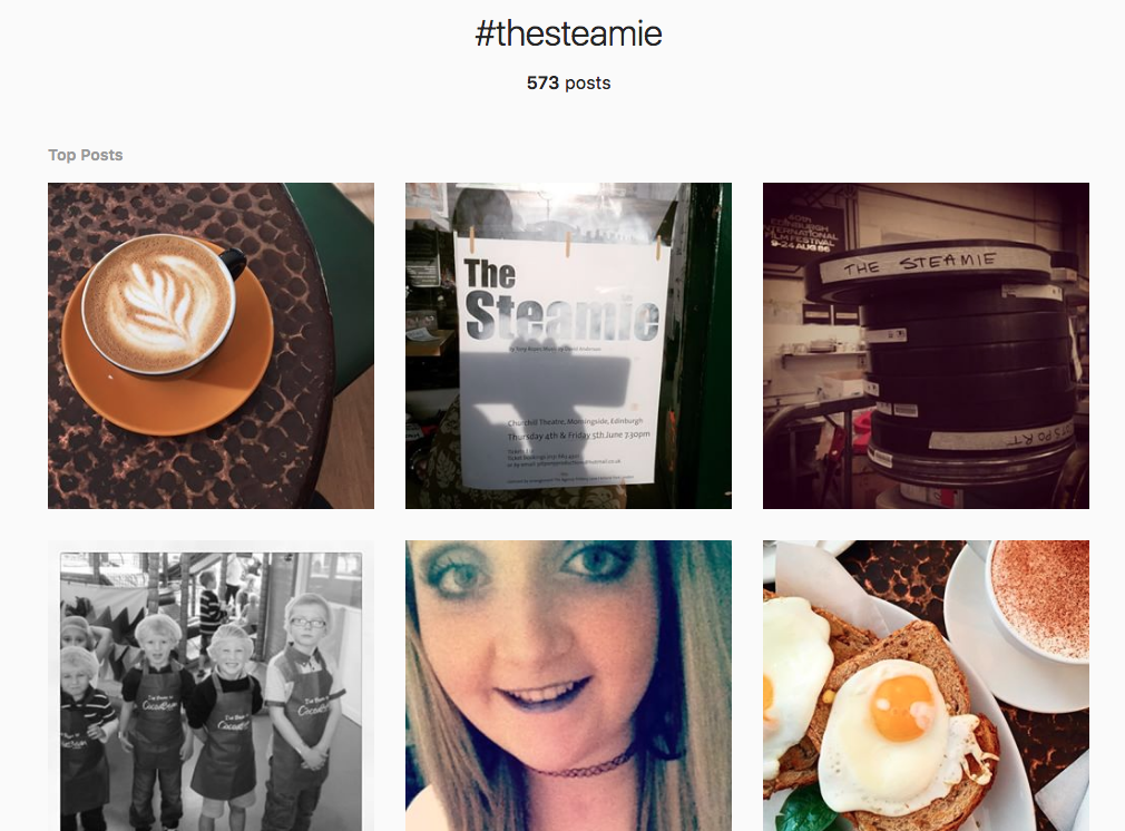 the steamie coffee shop hashtag