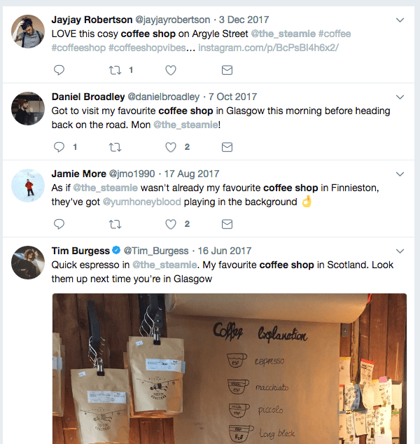 the steamie coffee shop twitter 2