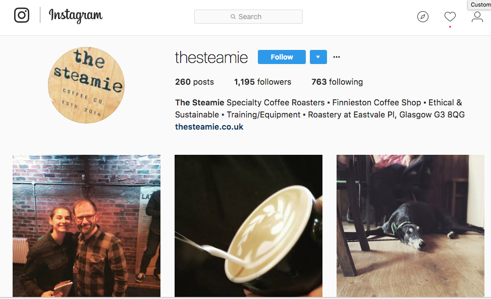 the steamie instagram page