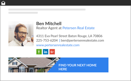 Wisestamp Realtor Email Signature