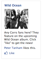 Corrs Facebook Add