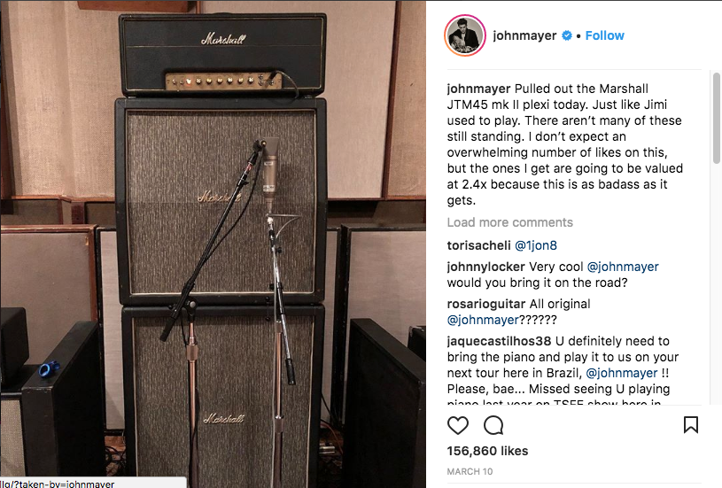 John Mayer Instagram Post