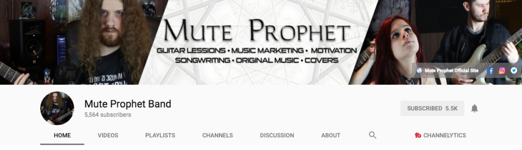 Mute Prophet YouTube Page