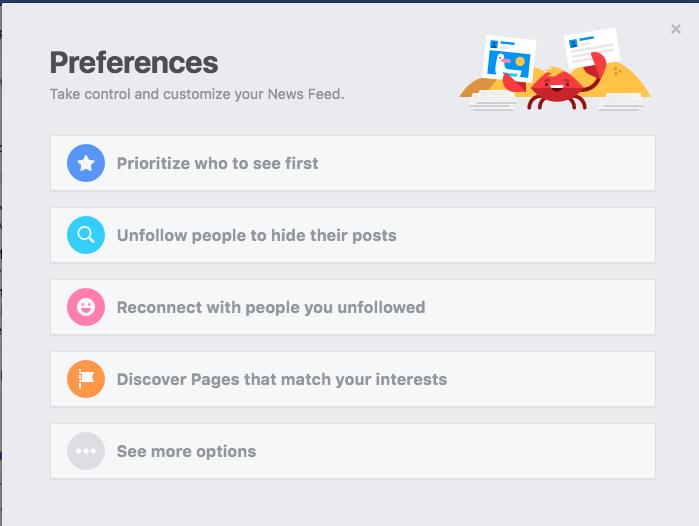 Facebook Page Preferences