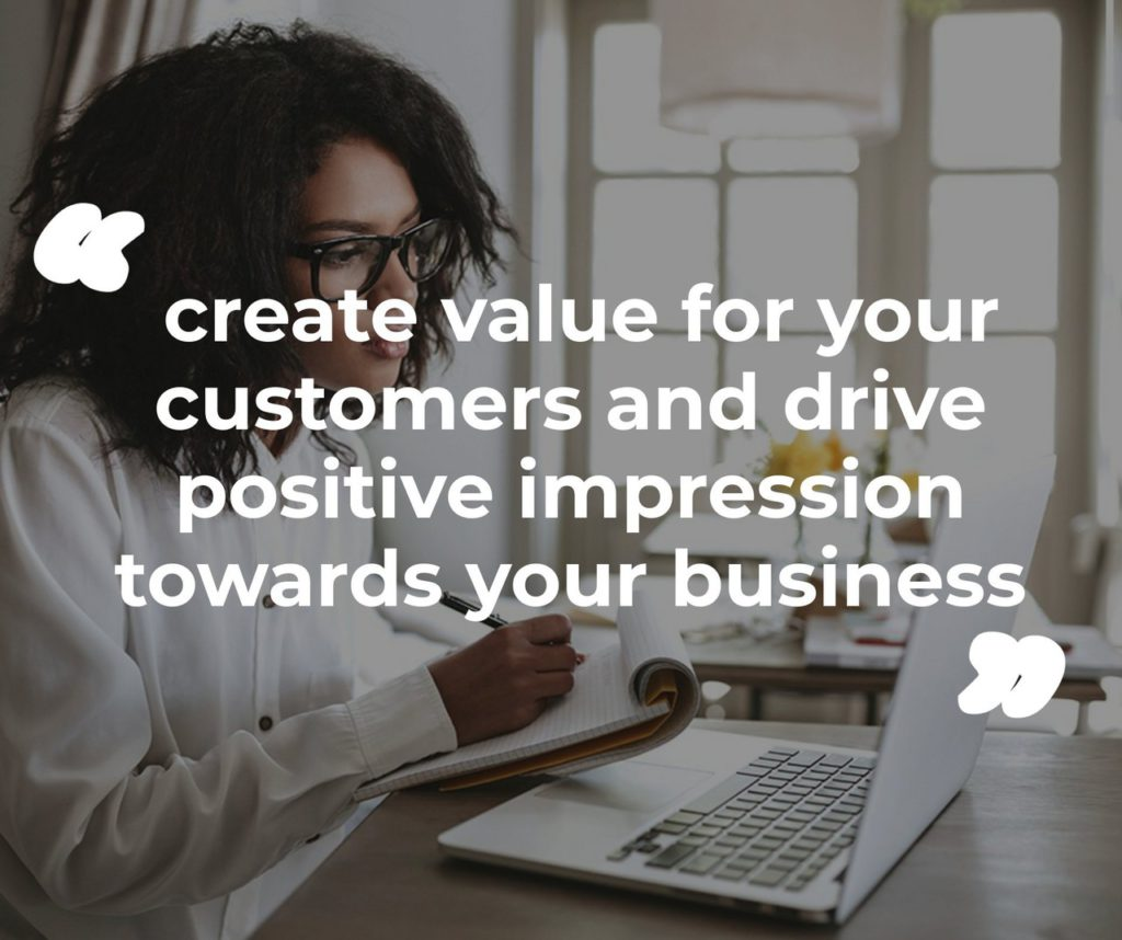 create value for your customers