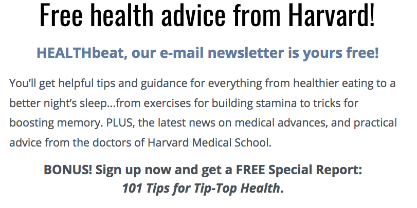 Harvard Health Advice