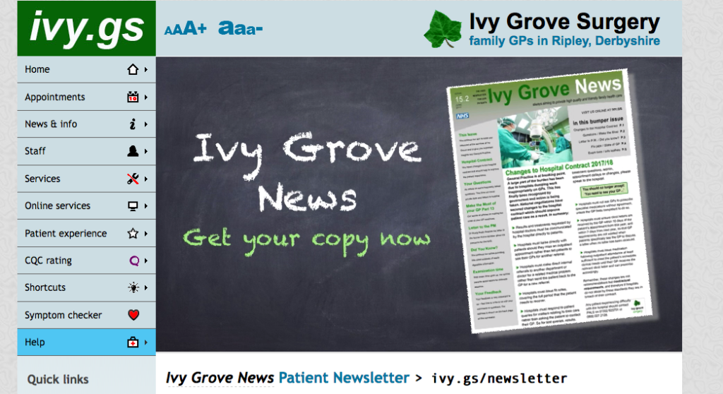 Ivy Grove Surgery Newsletter