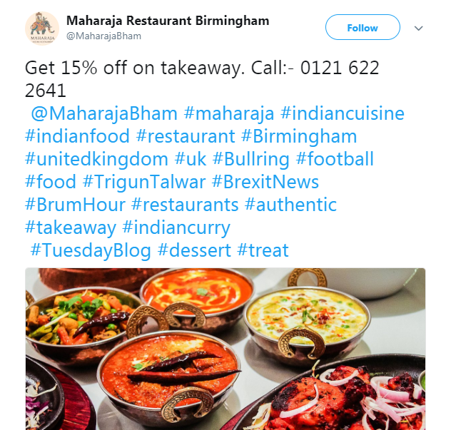 Twitter Exclusive Takeaway Offers
