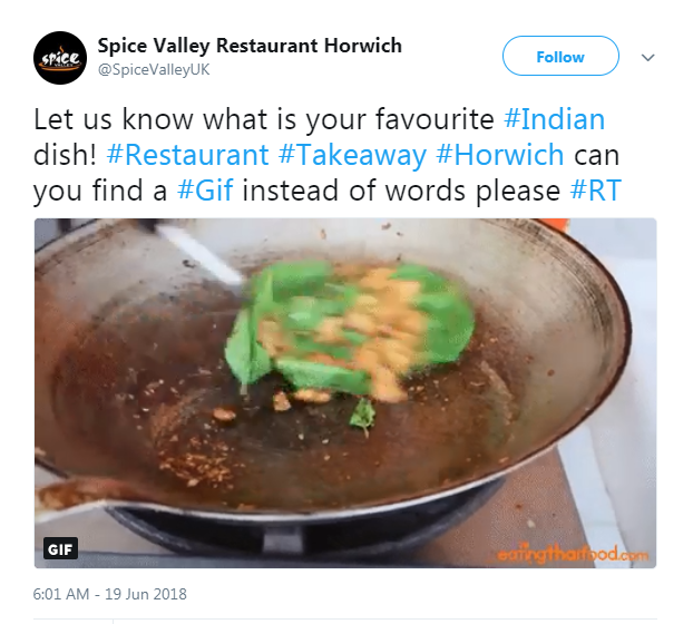 Encouraging Interaction on Takeaway Twitter