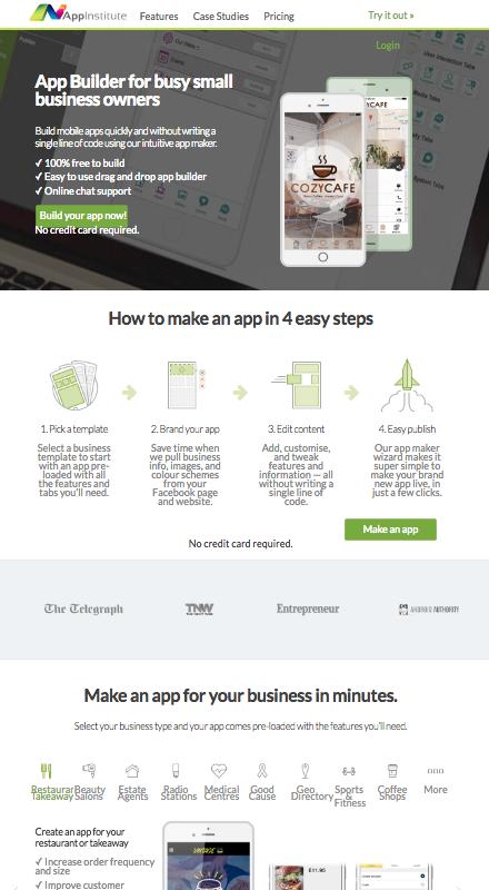 app builder appinstitute