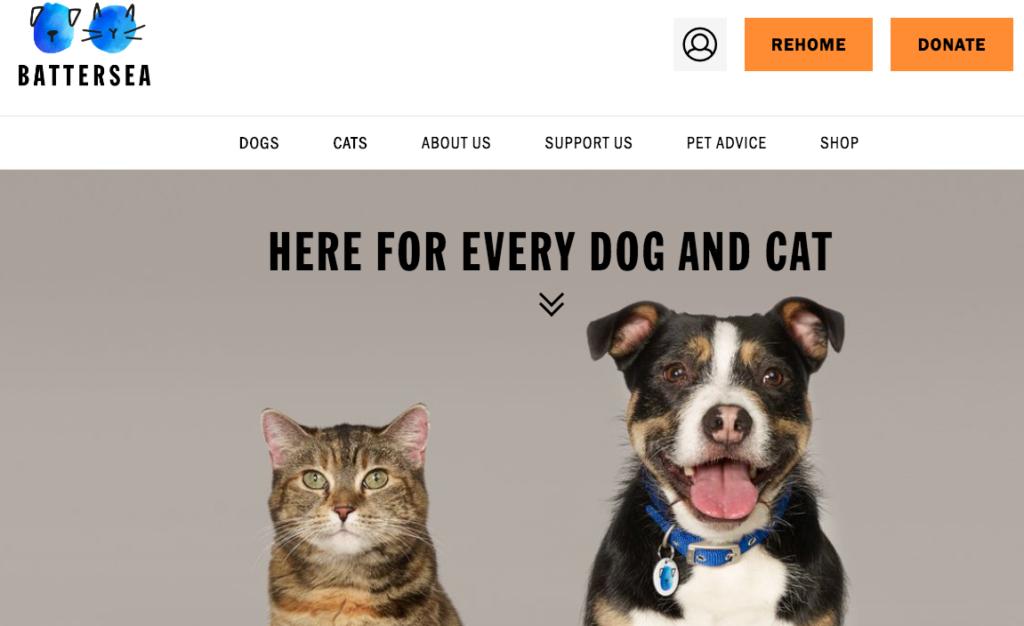 battersea charity website