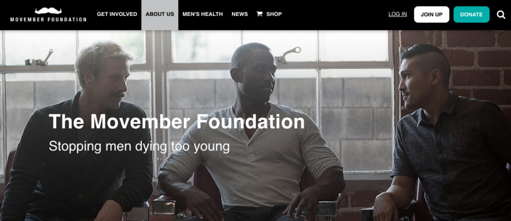 Movember Charity Website