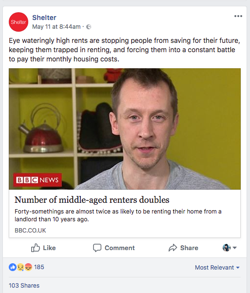 shelter facebook post