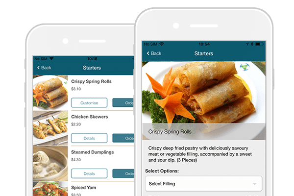 takeaway app menu customisation