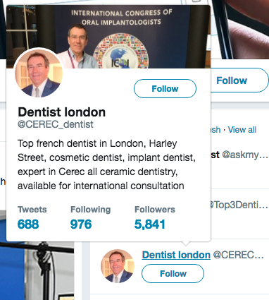 Dentist Twitter Example