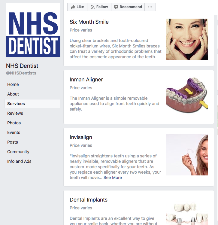 NHS Dentist Services List