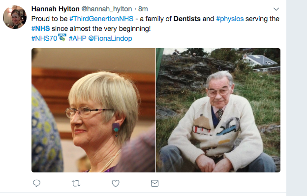 NHS 70th Birthday Dentist Tweet