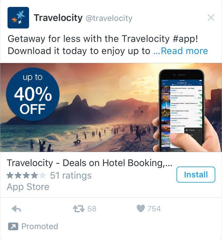 Promoted App Tweet