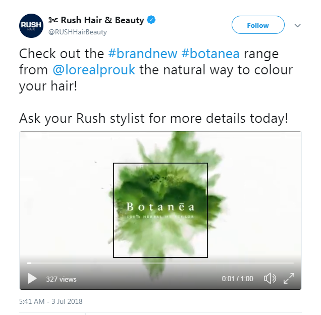 rush salon tweet