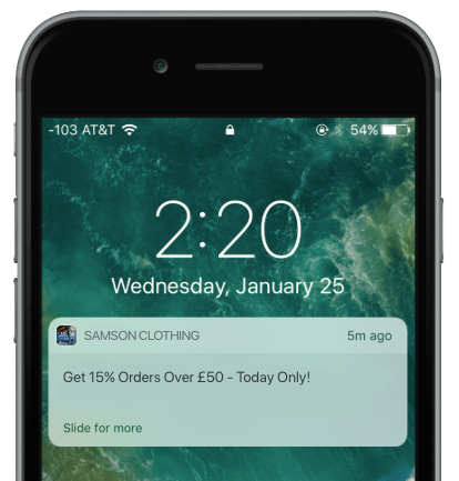 push notification retail app