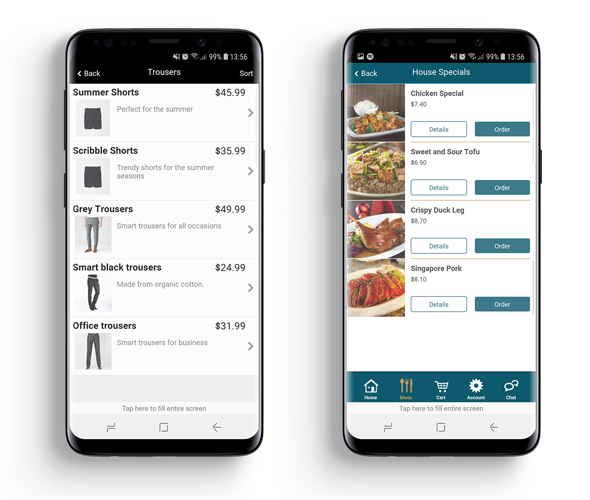 retail and food apps
