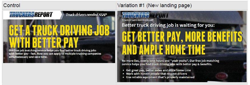 Truckersreport App Landing Page