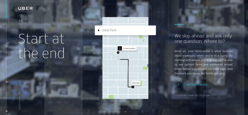 Uber App Landing Page