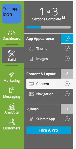 App Builder Sidebar