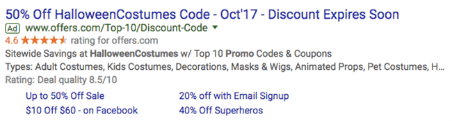 halloween marketing google ads