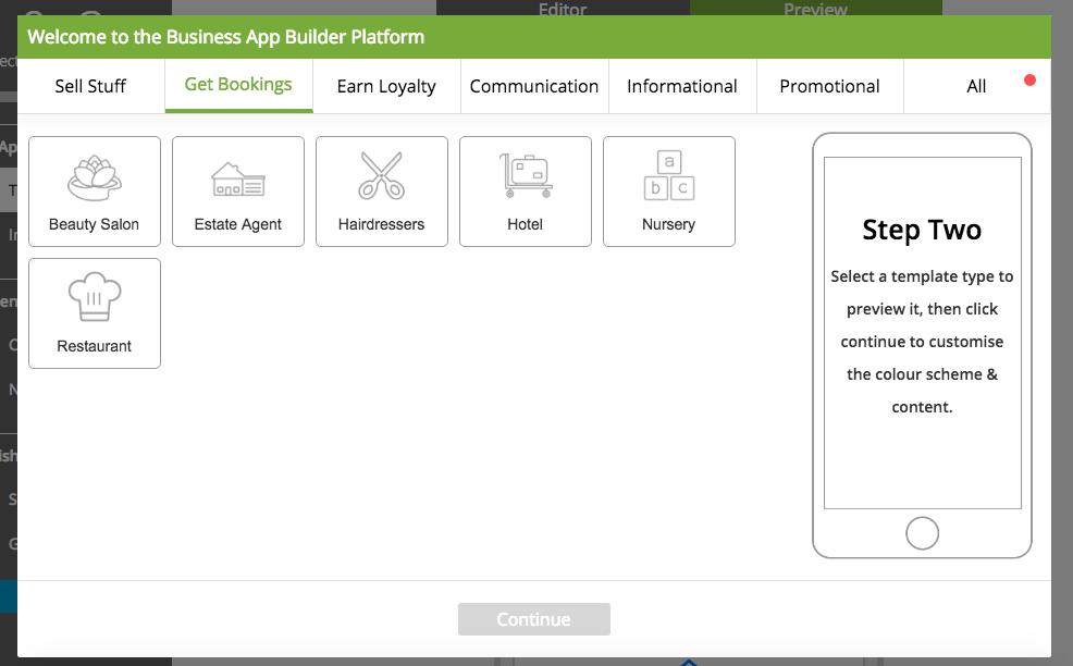 Get Bookings App Templates