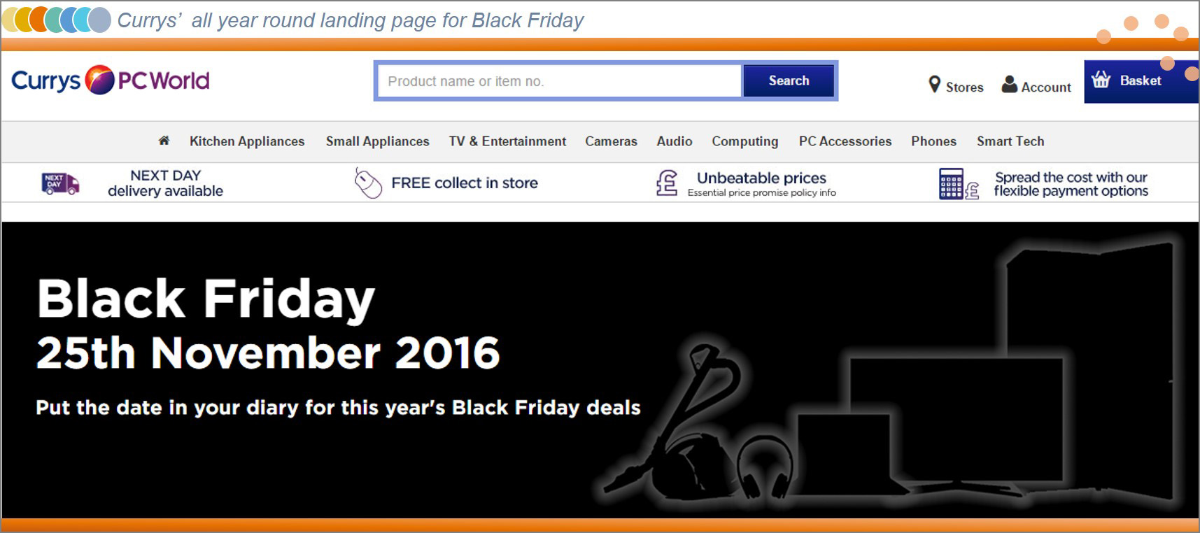 Currys PC World Black Friday Landing Page